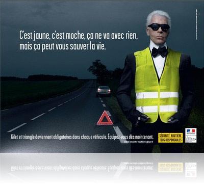 Karl Lagerfeld pour la sécurité Routière