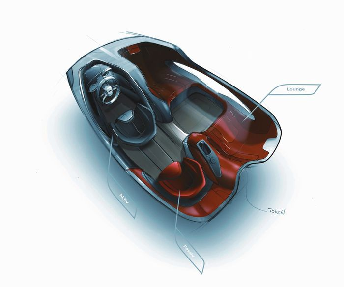 Audi Intelligent Emotion - Dessin intérieur