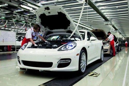 Chaine de production de la Porsche Panamera
