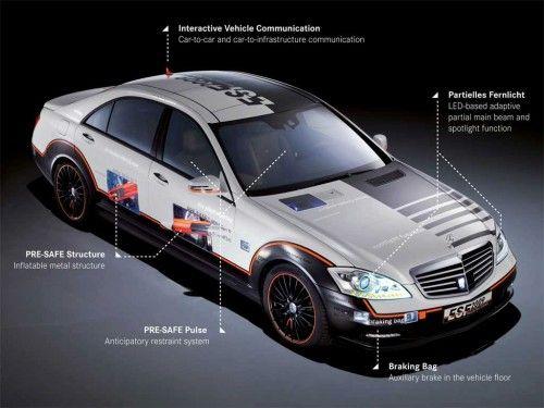 Mercedes-Benz ESF 2009 Concept - Schéma