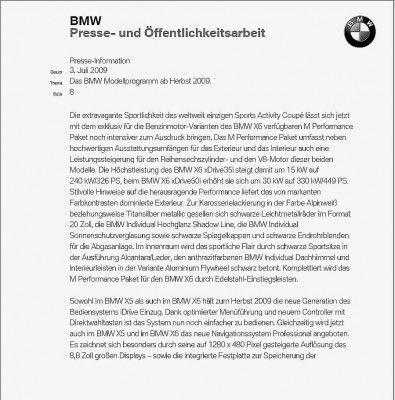 Note BMW X6 Sport Pack