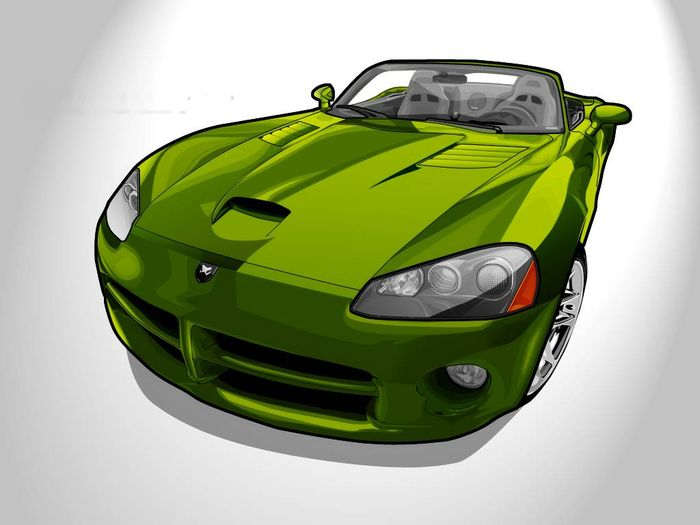 Dodge_Viper_SRT_10__Vector_art_by_Redxibi