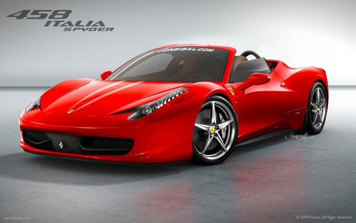 Ferrari 458 italia spider rendu