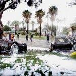 FerrariEnzo_crashée et enflammée autour d'un arbre