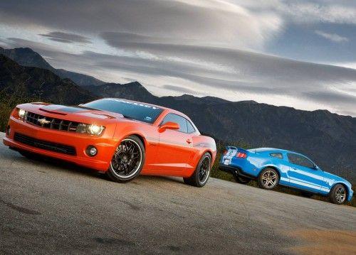 Shelby GT500 et Camaro