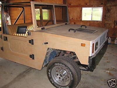 On trouve tout sur eBay ( part 2 ) : …même un Hummer écolo tout de bois construit !