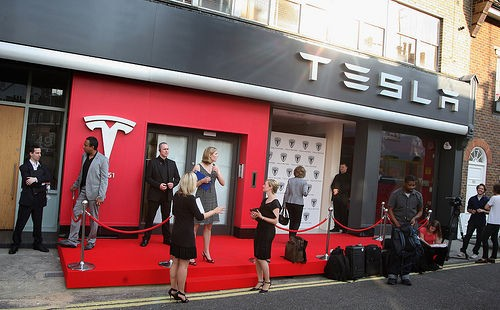 tesla store of London
