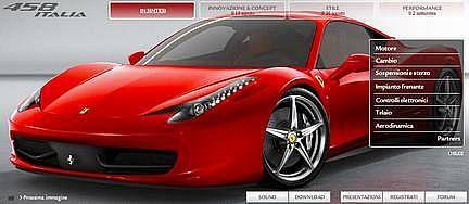 Site Ferrari 458 Italia
