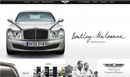 bentley mulsanne- le site