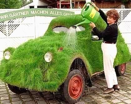 la  2CV, une vraie Grass car