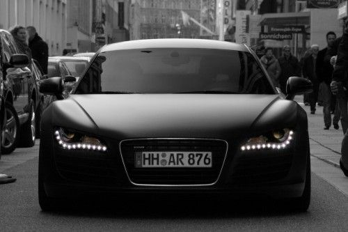 Audi r8 matt black front