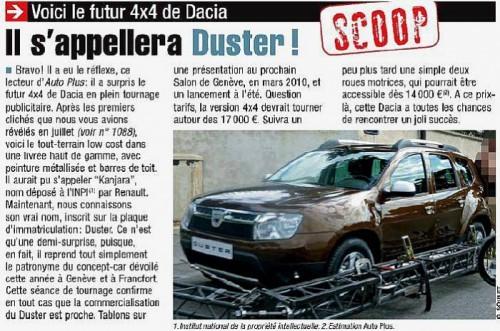 AutoPlus, SUV Dacia