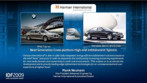 BMW Serie 7 et Mercedes - Intel