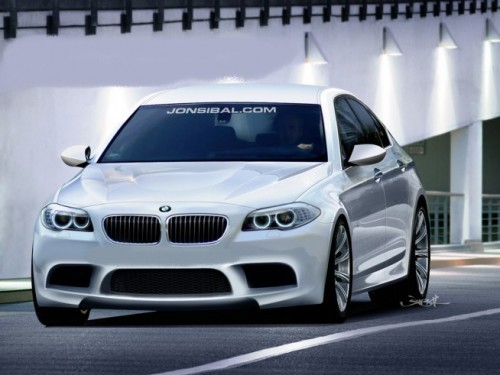 BMW M5 F10 rendering by Jonsibal