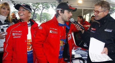 Loeb et son épouse au rallye du Var 2009