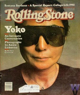 Mag Rolling Stone et Yoko Ono avec lunettes Porsche Design