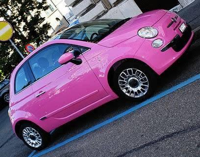 Fiat 500 so pink