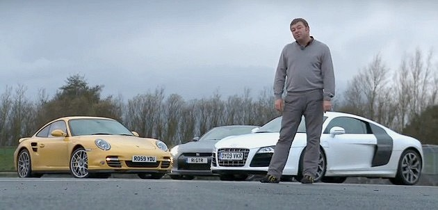 911 vs GT-R vs R8 with Autocar