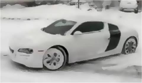 Audi R8 under the Snow