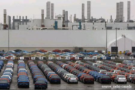 Stock sur une usine Chrysler