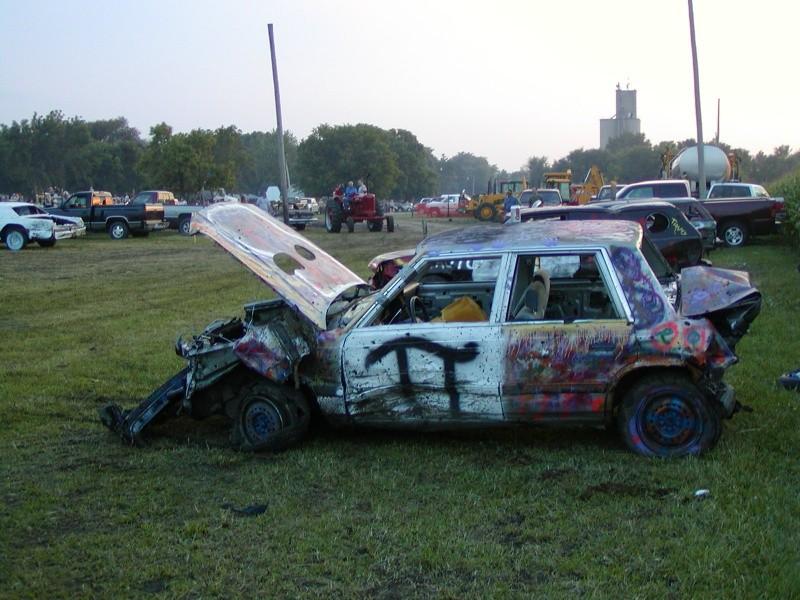 a demolition car