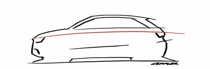 Audi A1 profil du teaser