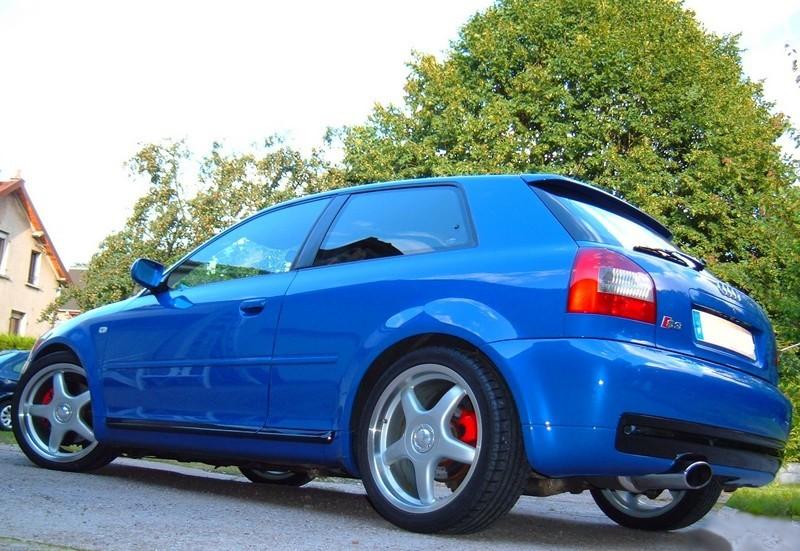 Audi s3 bleu Nogaro