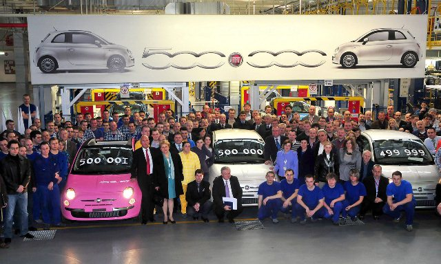 fiat-500- 500000 autos produites à Tychy