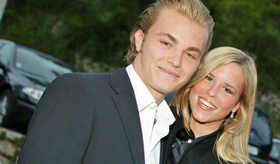 Nico rosberg et Vivian Sibold