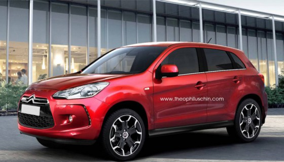Photo C3 Crosser preview by T.Chin  560x319 PSA Peugeot Citroën : Un SUV compact en 2012