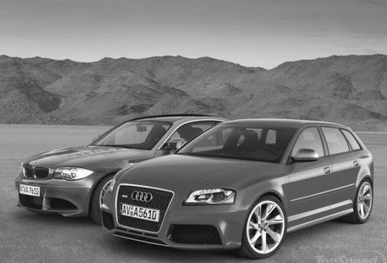 Audi RS3 vs BMW serie1 M coupé : Le match virtuel