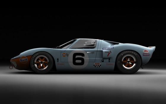Photo Ford GT40 Mark I Gulf LeMans 1969 560x350 Le Mans 1969 : Les Hunaudières en GT40 et autres moments   (vidéo)