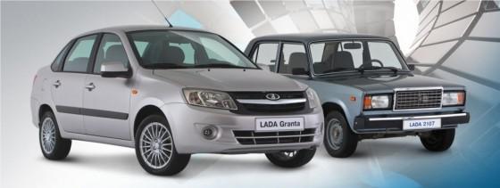 Photo Lada granta et 2107 560x211 Lada Granta : Nouvelle et vendue par Vladimir        (vidéo)