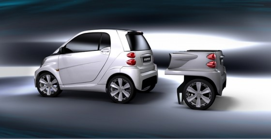 Rinspeed Dock Go.1 560x287 Rinspeed Dock+Go : La Fortwo for three