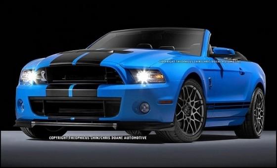 Photo 2013 ford gt500 convertible t. chin.1 560x341 Ford Mustang Shelby GT500 Cabriolet : Le cabriolet à la moteur V8 le plus puissant du marché en approche
