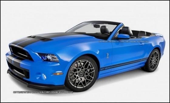 Photo 2013 ford gt500 convertible t. chin.3 560x341 Ford Mustang Shelby GT500 Cabriolet : Le cabriolet à la moteur V8 le plus puissant du marché en approche