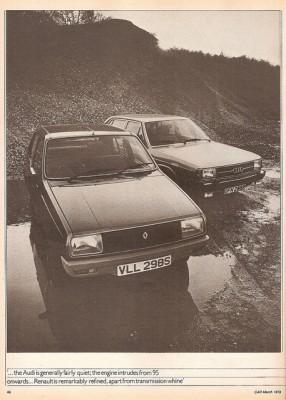 Photo R14 vs Audi 100 286x400 Renault 14 : Une bonne poire surdouée    (vidéos)