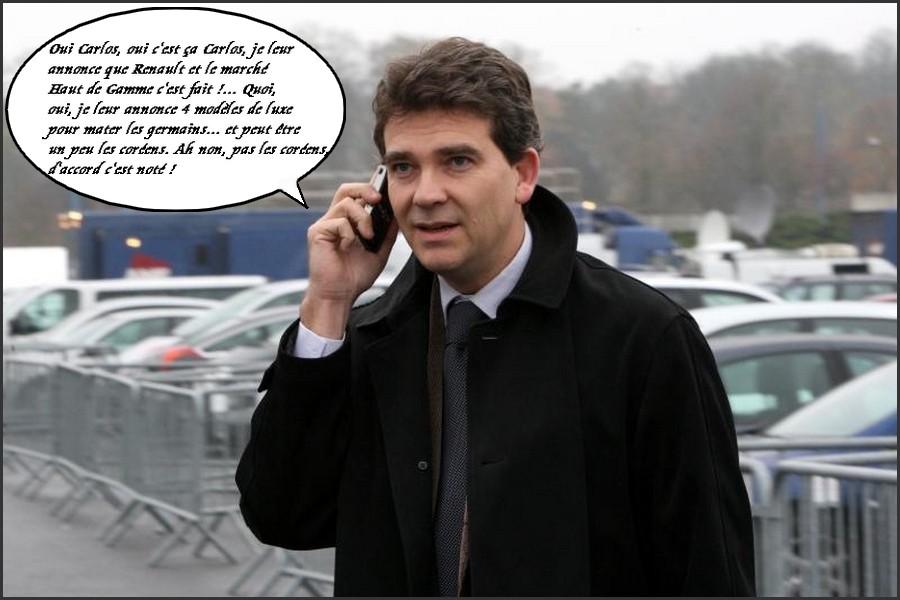 Arnaud Montebourd , ministre du redressement productif et