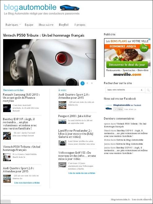 Blogautomobile version 2