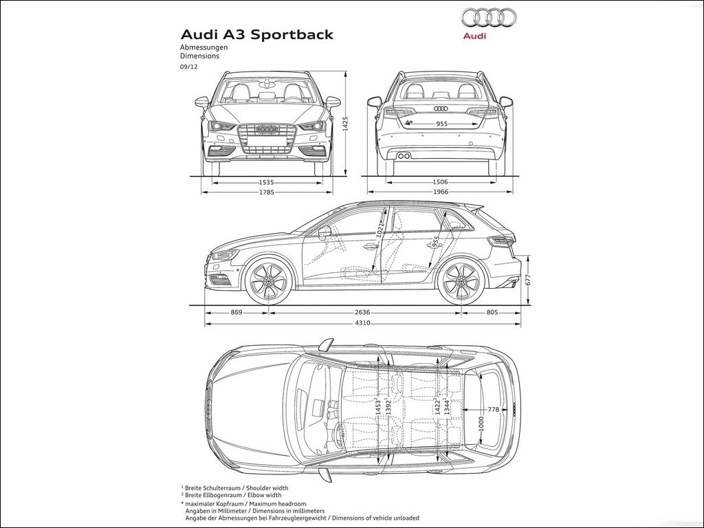 audi a3 sportback 2013 0. Black Bedroom Furniture Sets. Home Design Ideas