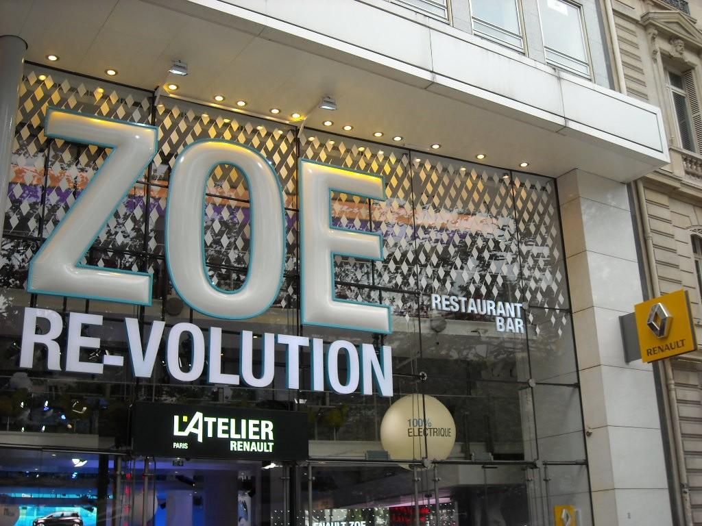 Zoé - Revolution - façade de l'Atelier Renault