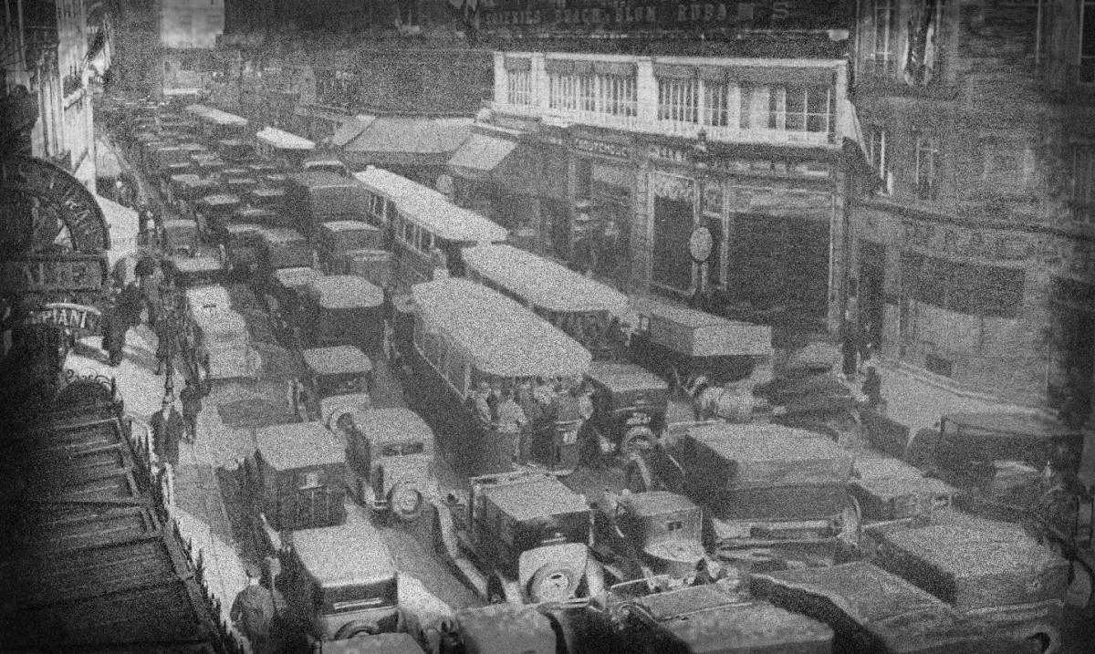 embouteillage Paris années30