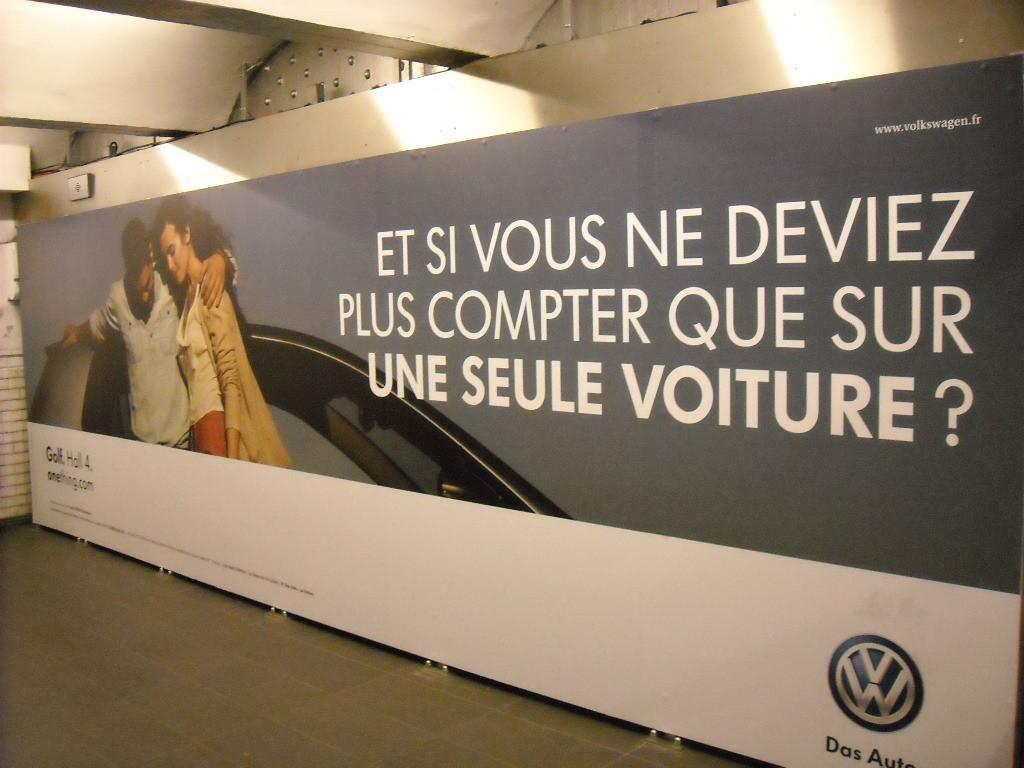 Campagne de publicité de Volkswagen dans le métro
