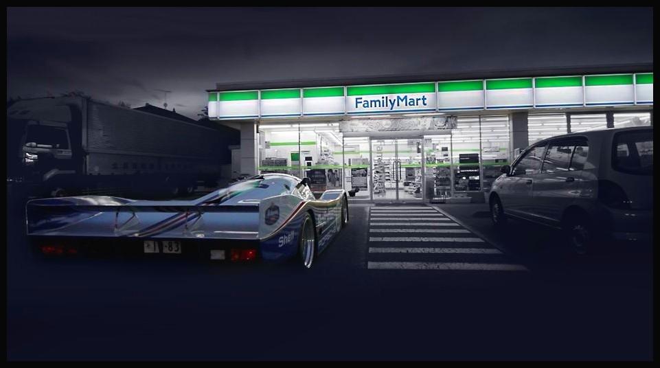 Porsche 962C au supermarché