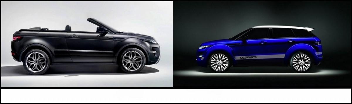 Range Rover Evoque Cabriolet et Sport