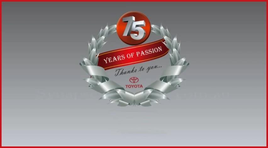 Toyota 75 ans