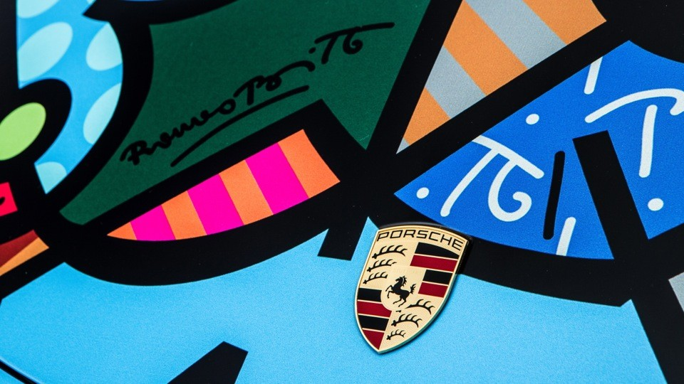 911 cabriolet Artr car by Romero Britto