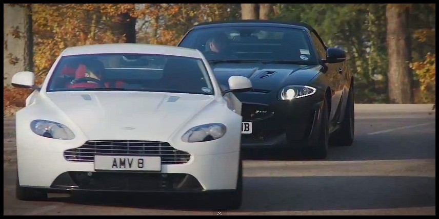 Aston Martin V8 Vantage vs Jaguar XKR-S