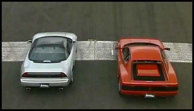 NSX versus Testarossa