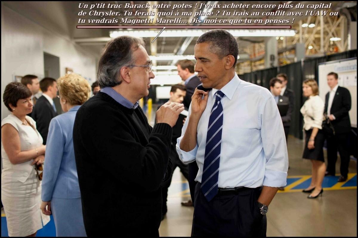 sergio Marchionne et Obama